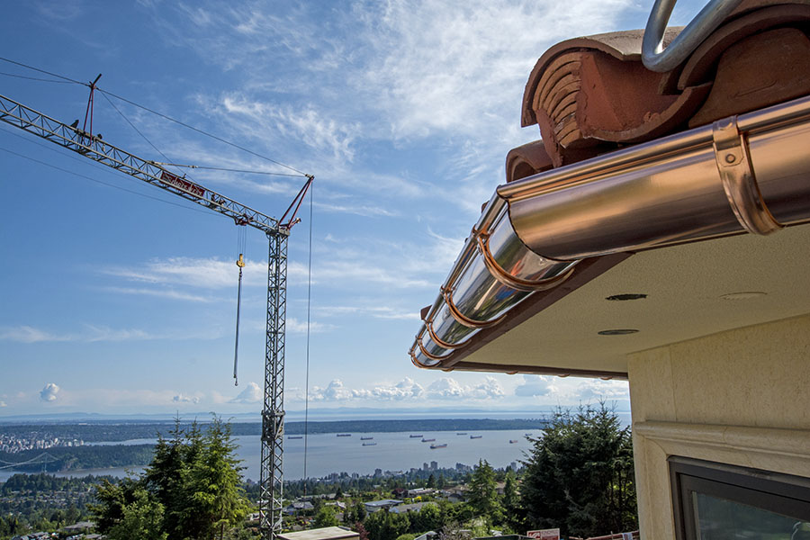 Residential & Commercial Copper Rain Gutters Vancouver